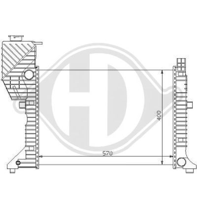 Radiateur, refroidissement du moteur - Diederichs Germany - 8121132