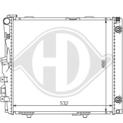 Radiateur, refroidissement du moteur - Diederichs Germany - 8121134