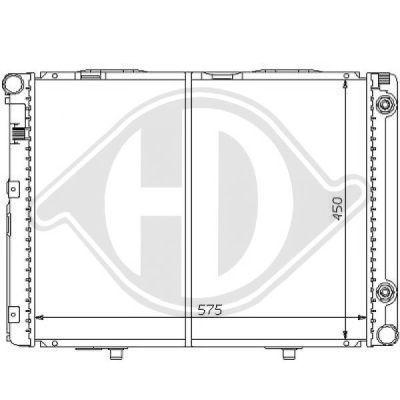 Radiateur, refroidissement du moteur - Diederichs Germany - 8121139