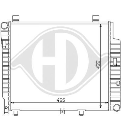 Radiateur, refroidissement du moteur - Diederichs Germany - 8121144