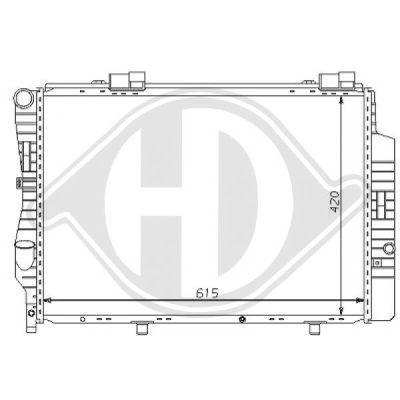 Radiateur, refroidissement du moteur - Diederichs Germany - 8121149
