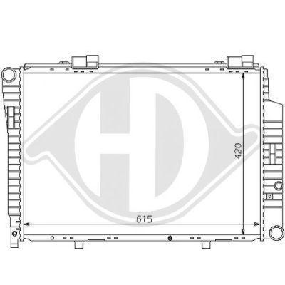 Radiateur, refroidissement du moteur - Diederichs Germany - 8121150