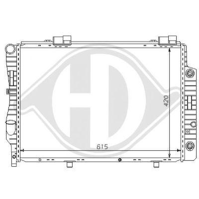 Radiateur, refroidissement du moteur - HDK-Germany - 77HDK8121151