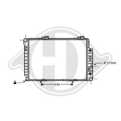 Radiateur, refroidissement du moteur - Diederichs Germany - 8121153