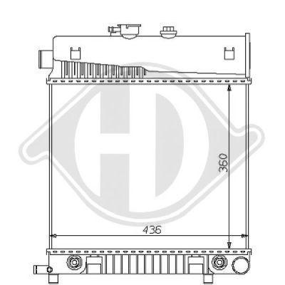Radiateur, refroidissement du moteur - Diederichs Germany - 8121157