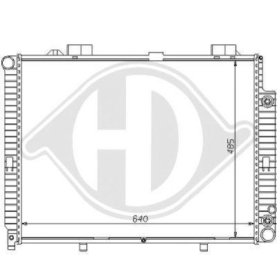 Radiateur, refroidissement du moteur - Diederichs Germany - 8121158