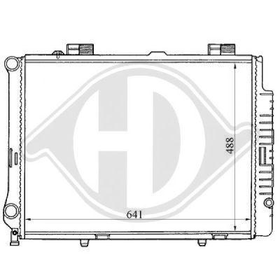 Radiateur, refroidissement du moteur - Diederichs Germany - 8121159