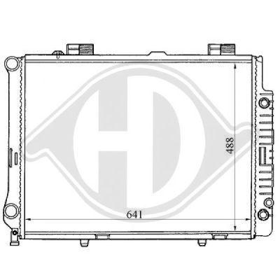 Radiateur, refroidissement du moteur - Diederichs Germany - 8121160