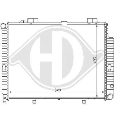 Radiateur, refroidissement du moteur - Diederichs Germany - 8121162