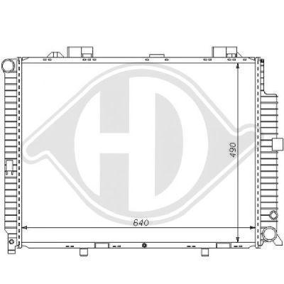 Radiateur, refroidissement du moteur - Diederichs Germany - 8121165