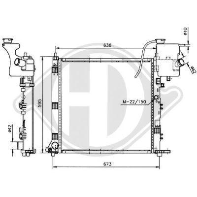 Radiateur, refroidissement du moteur - Diederichs Germany - 8121169