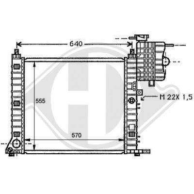 Radiateur, refroidissement du moteur - Diederichs Germany - 8121170
