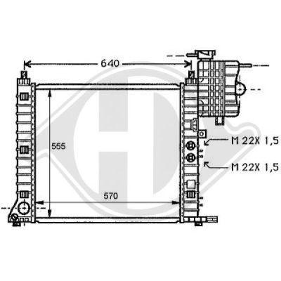 Radiateur, refroidissement du moteur - Diederichs Germany - 8121171
