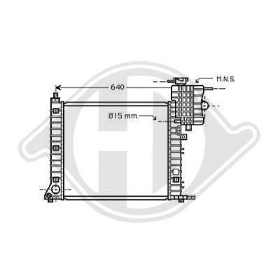 Radiateur, refroidissement du moteur - Diederichs Germany - 8121175