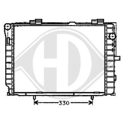 Radiateur, refroidissement du moteur - Diederichs Germany - 8121176