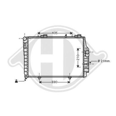 Radiateur, refroidissement du moteur - Diederichs Germany - 8121179