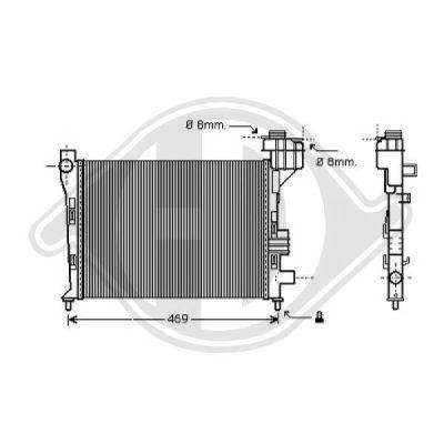 Radiateur, refroidissement du moteur - Diederichs Germany - 8121180