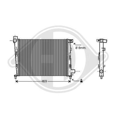 Radiateur, refroidissement du moteur - Diederichs Germany - 8121181