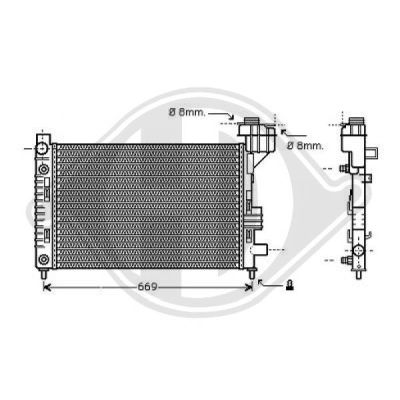 Radiateur, refroidissement du moteur - HDK-Germany - 77HDK8121182
