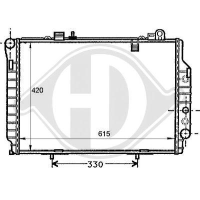Radiateur, refroidissement du moteur - Diederichs Germany - 8121186