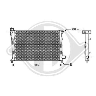Radiateur, refroidissement du moteur - Diederichs Germany - 8121187