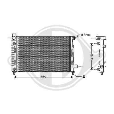 Radiateur, refroidissement du moteur - Diederichs Germany - 8121188