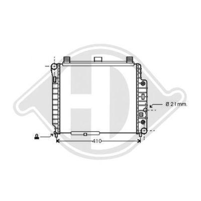 Radiateur, refroidissement du moteur - Diederichs Germany - 8121193