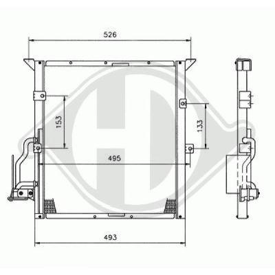 Condenseur, climatisation - Diederichs Germany - 8121302