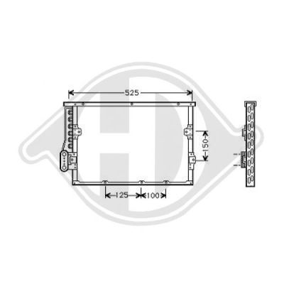 Condenseur, climatisation - Diederichs Germany - 8121303