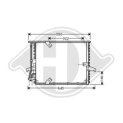 Condenseur, climatisation - Diederichs Germany - 8121306
