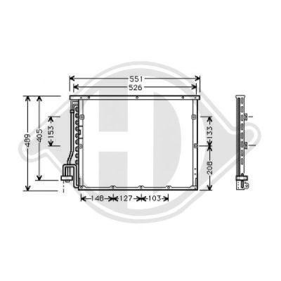 Condenseur, climatisation - Diederichs Germany - 8121308