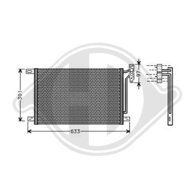 Condenseur, climatisation - HDK-Germany - 77HDK8121401