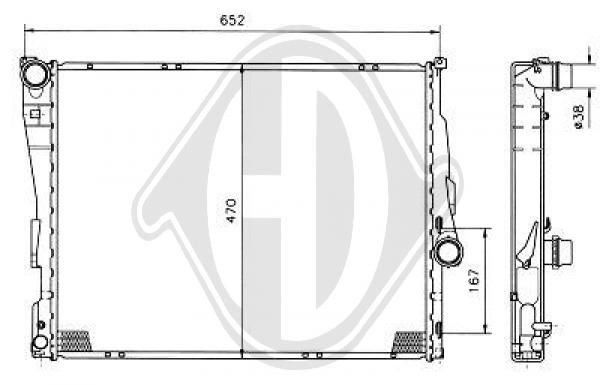 Radiateur, refroidissement du moteur - HDK-Germany - 77HDK8121405
