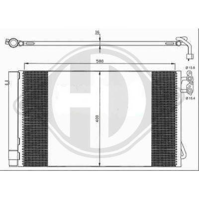 Condenseur, climatisation - Diederichs Germany - 8121600