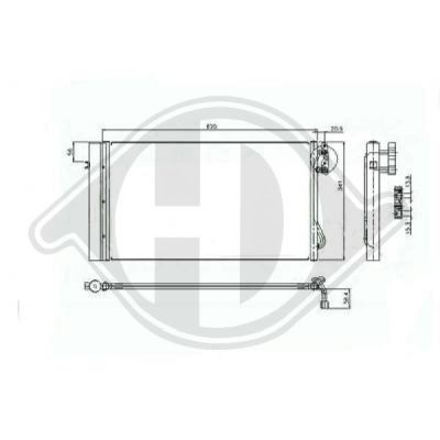 Condenseur, climatisation - HDK-Germany - 77HDK8121609