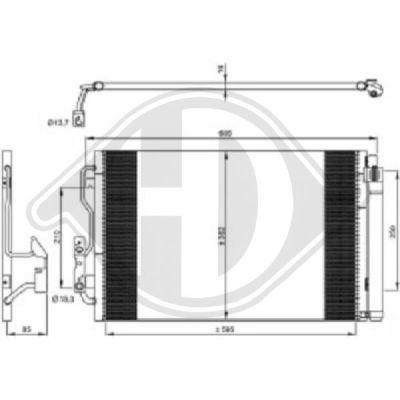 Condenseur, climatisation - Diederichs Germany - 8121700