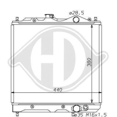 Radiateur, refroidissement du moteur - Diederichs Germany - 8122107