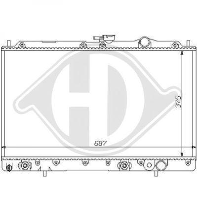 Radiateur, refroidissement du moteur - Diederichs Germany - 8122113