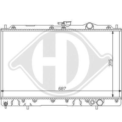 Radiateur, refroidissement du moteur - Diederichs Germany - 8122114