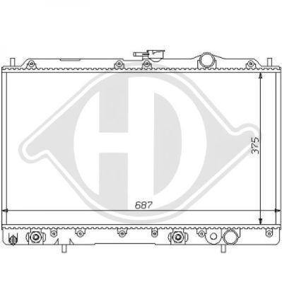 Radiateur, refroidissement du moteur - Diederichs Germany - 8122116