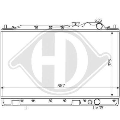 Radiateur, refroidissement du moteur - Diederichs Germany - 8122119