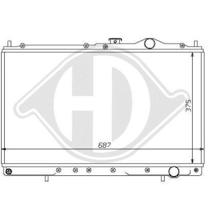 Radiateur, refroidissement du moteur - Diederichs Germany - 8122121