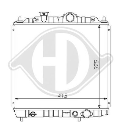 Radiateur, refroidissement du moteur - Diederichs Germany - 8122123