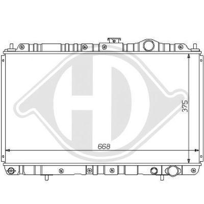 Radiateur, refroidissement du moteur - Diederichs Germany - 8122125