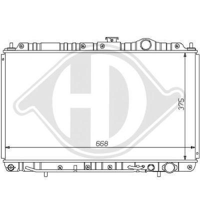Radiateur, refroidissement du moteur - Diederichs Germany - 8122126