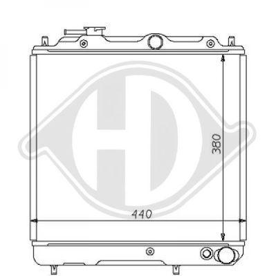 Radiateur, refroidissement du moteur - Diederichs Germany - 8122127