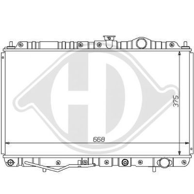 Radiateur, refroidissement du moteur - Diederichs Germany - 8122129