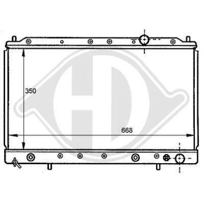 Radiateur, refroidissement du moteur - Diederichs Germany - 8122131
