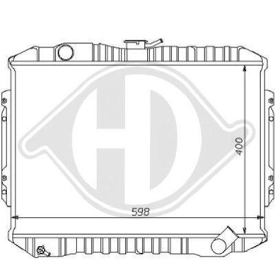 Radiateur, refroidissement du moteur - Diederichs Germany - 8122137