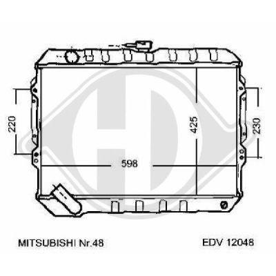 Radiateur, refroidissement du moteur - Diederichs Germany - 8122138